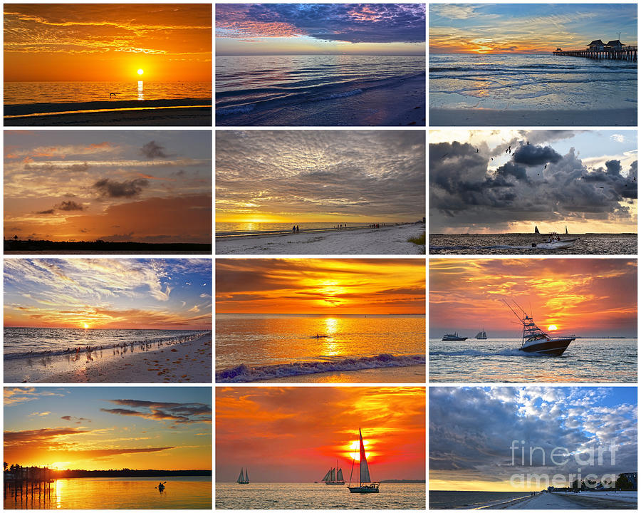 Florida Sunsets Collage by Catherine Sherman