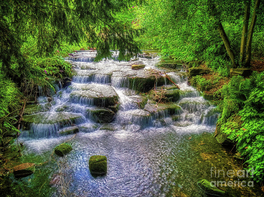 Waterfall Photograph - Flow and Glow by Leigh Kemp