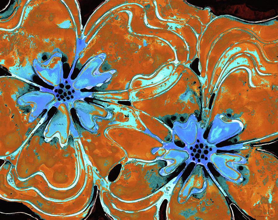 Orange Painting - Flower Art - Orange Poppies - Sharon Cummings by Sharon Cummings