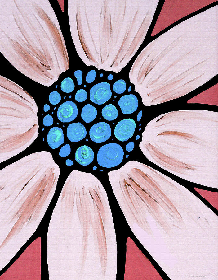Pink Painting - Flower Art - Pink Daisy - Sharon Cummings by Sharon Cummings