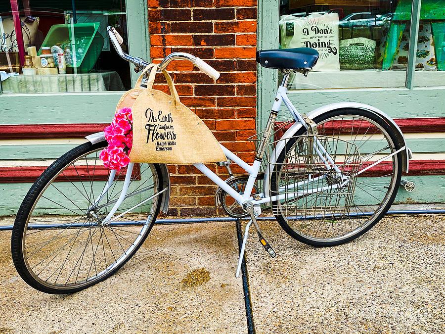 Flower Bike Photograph