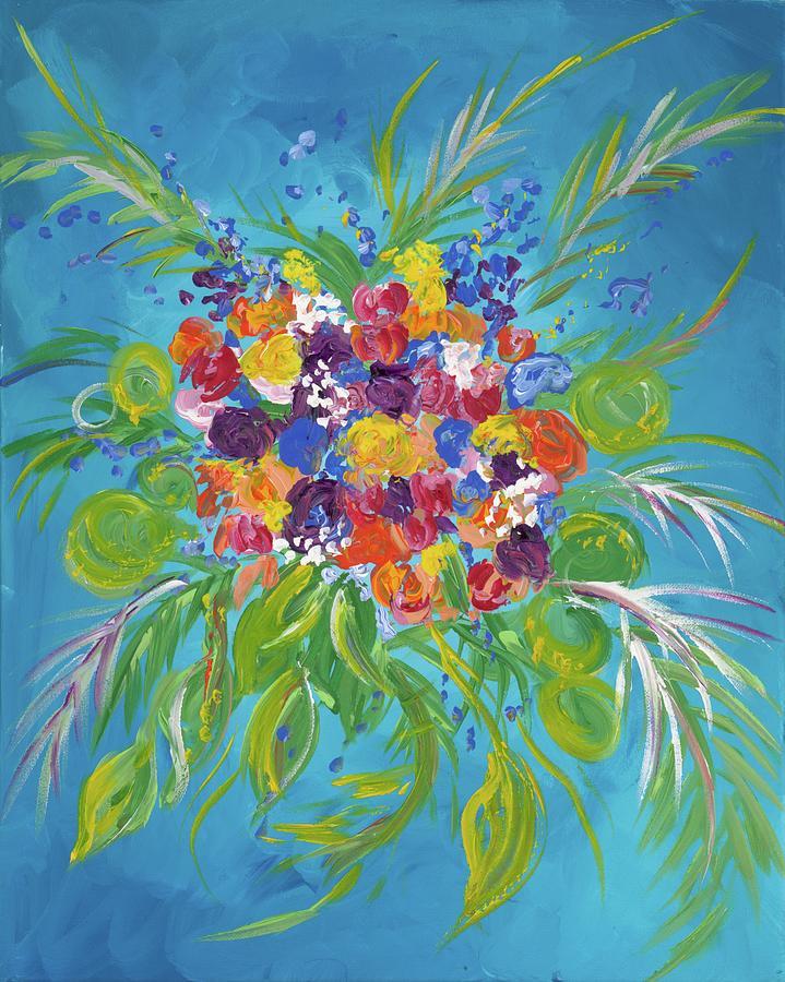 Flower Painting - Flower Bouquet by Britt Miller