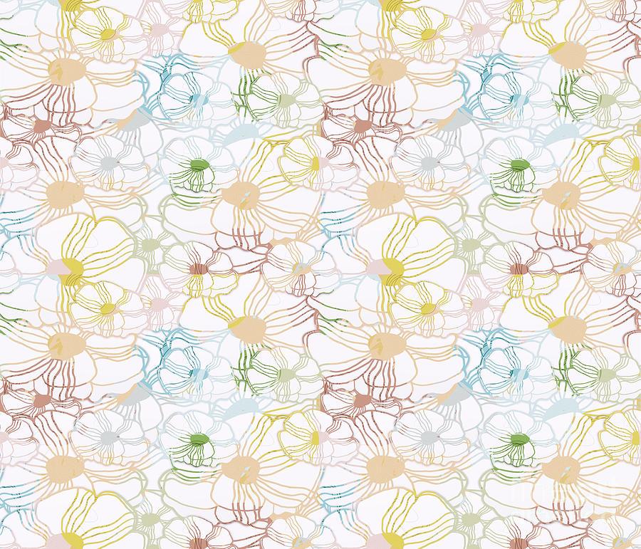 Flower Color Lines Digital Art