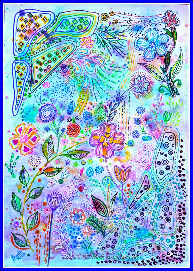 Flower Doodles Drawing