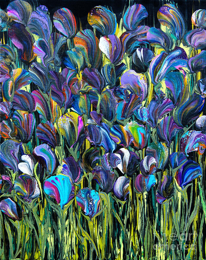 Flower Fantasy 6187 Painting by Priscilla Batzell Expressionist Art Studio Gallery
