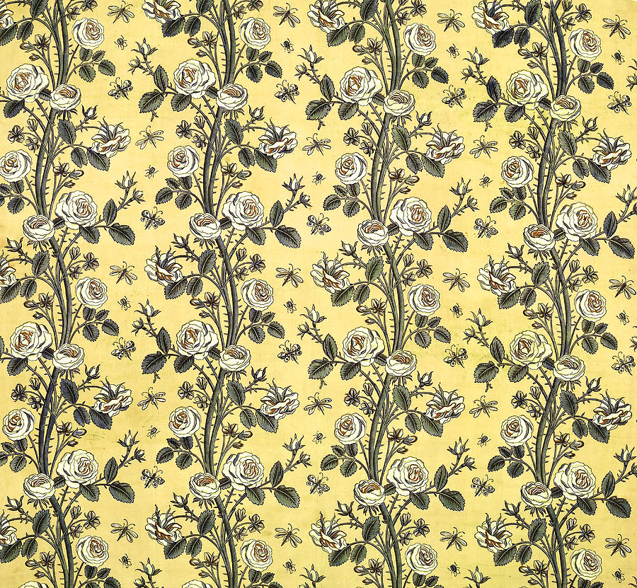 Flower Floral Fabric Vintage Gift Pattern #14 by John Williams