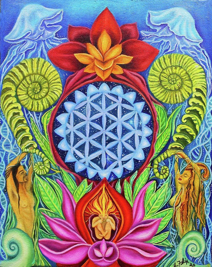 Flower Of Life Painting - Flower of Life by Lori Felix
