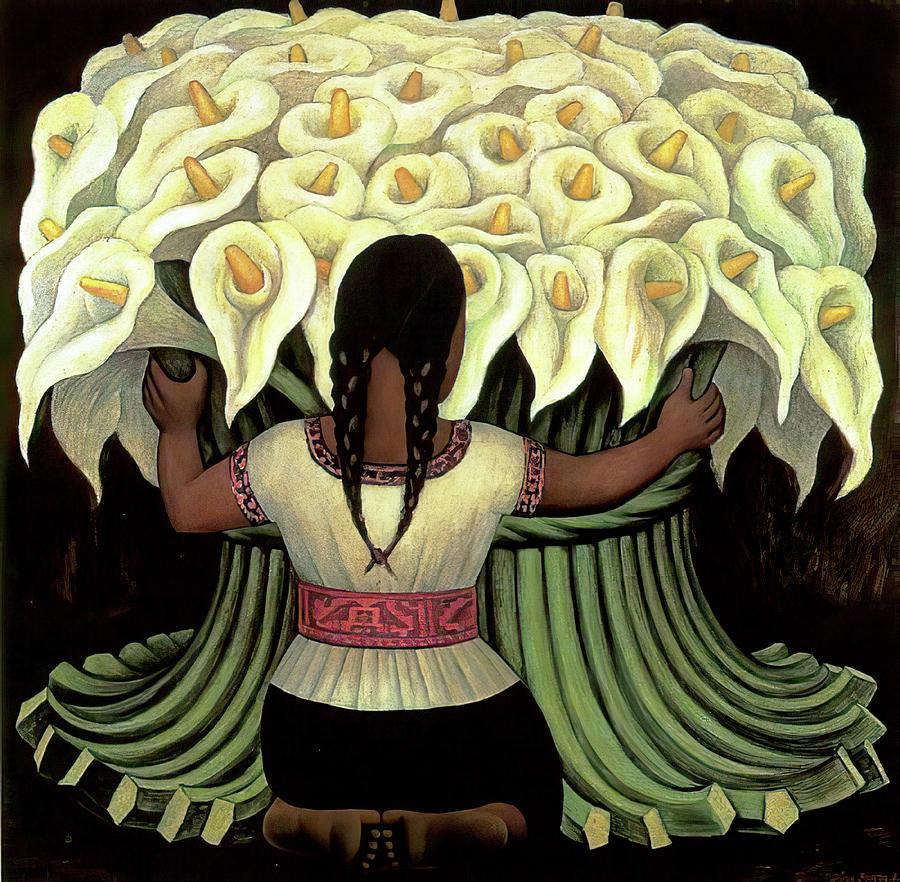 Flower Seller Rivera Painting