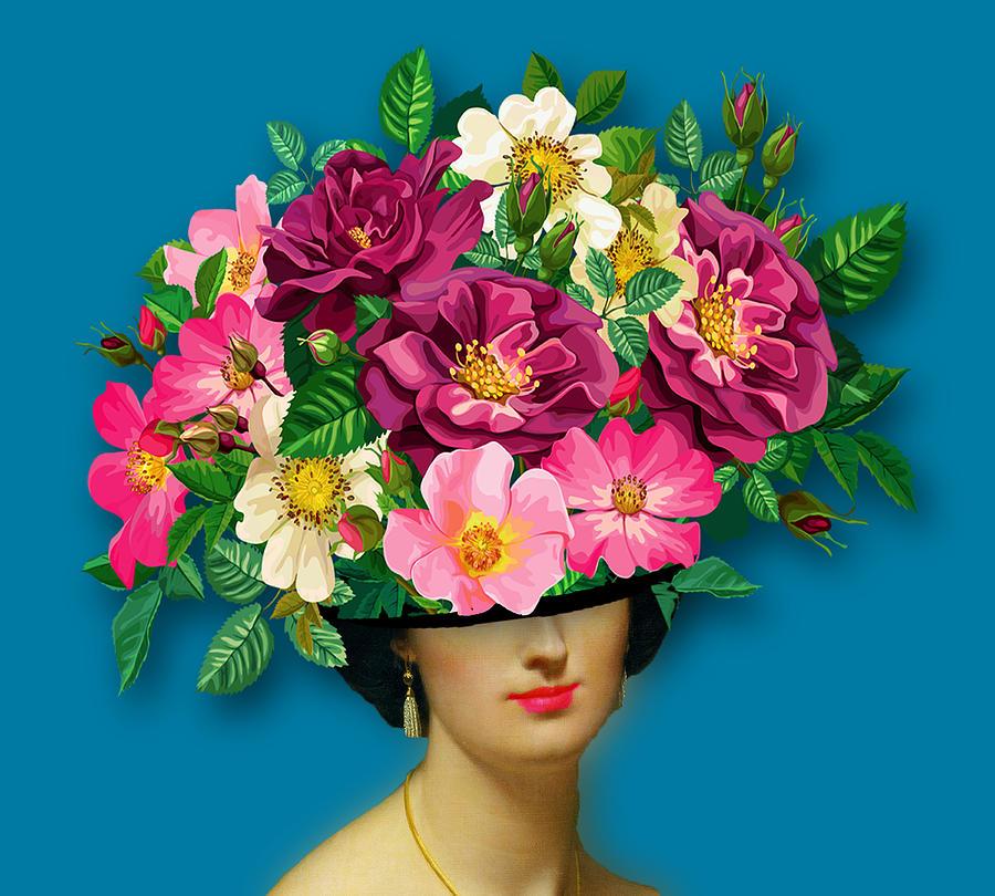 Flower Woman Surreal Tee Tees T-shirt Painting