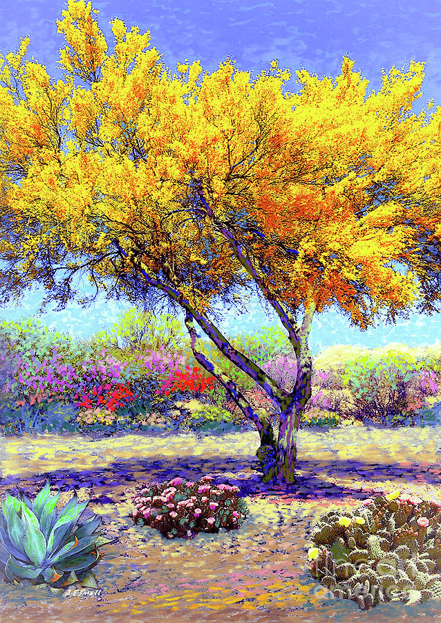 Landscape Painting - Flowering Desert by Jane Small