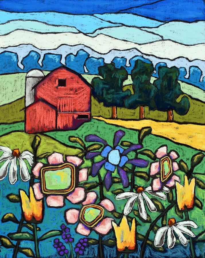 Flowers Down On The Farm Painting