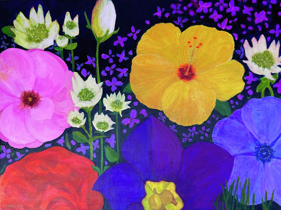 Floral Painting - Flowers For Chloe by Margot Sappern