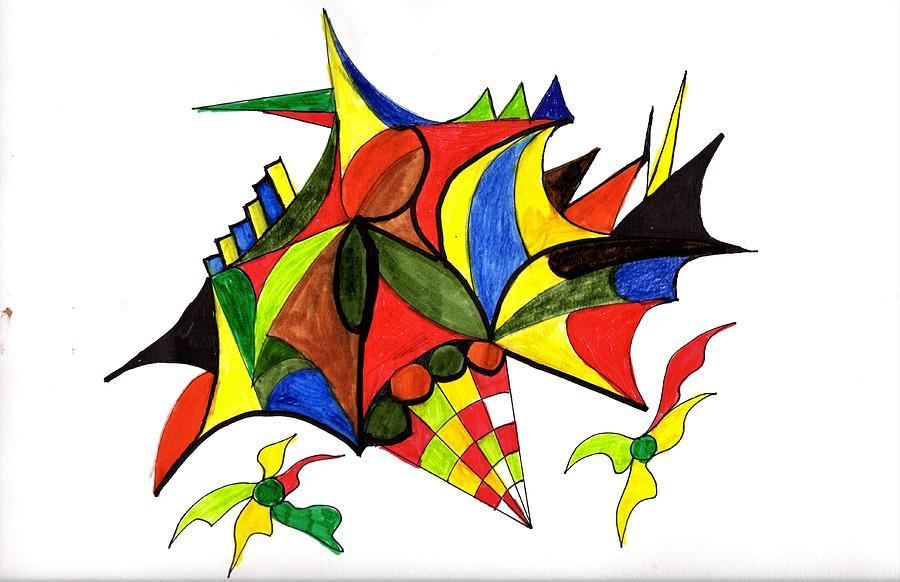 Flowers For Kandinsky Drawing