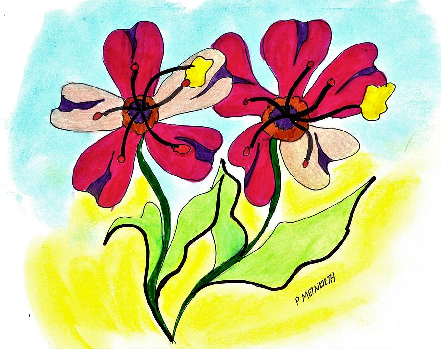 Flowers For My Facebook Friends Drawing