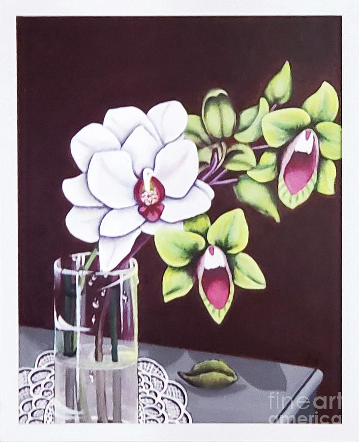 Orchids Painting - Flowers For my Love by Kathlene Melvin