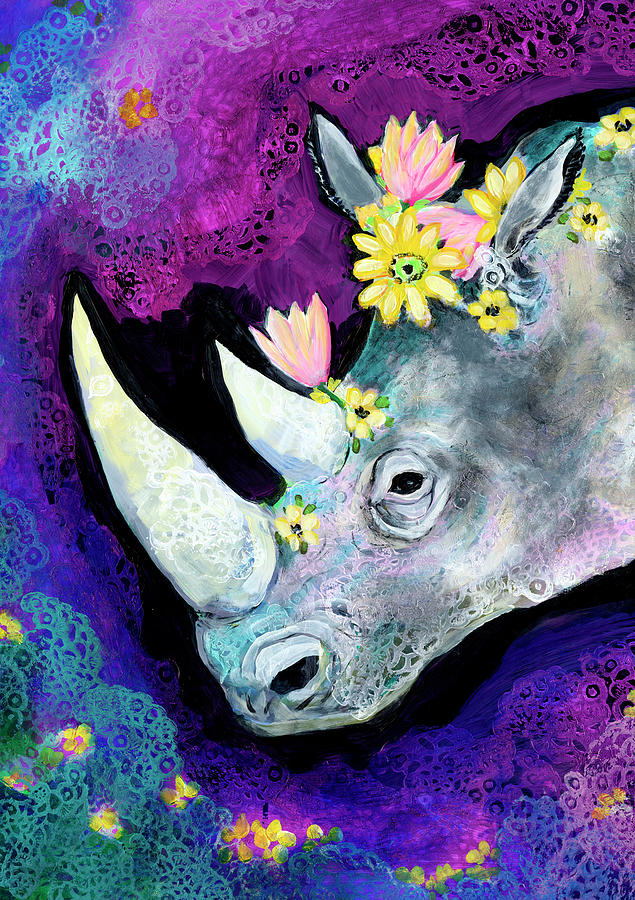 Flowers For Rhino Painting