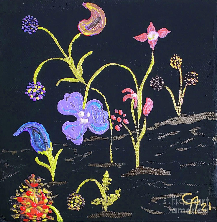 Flowers From Other Planet Painting