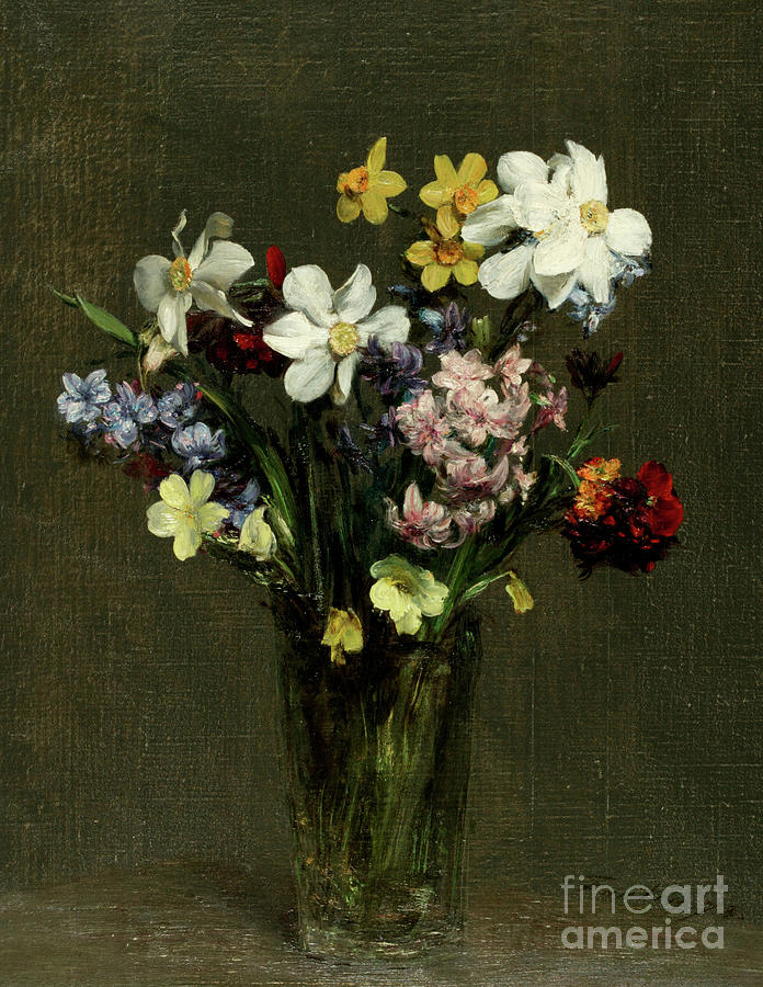 Flowers In A Vase, 1873 by Henri Fantin-Latour