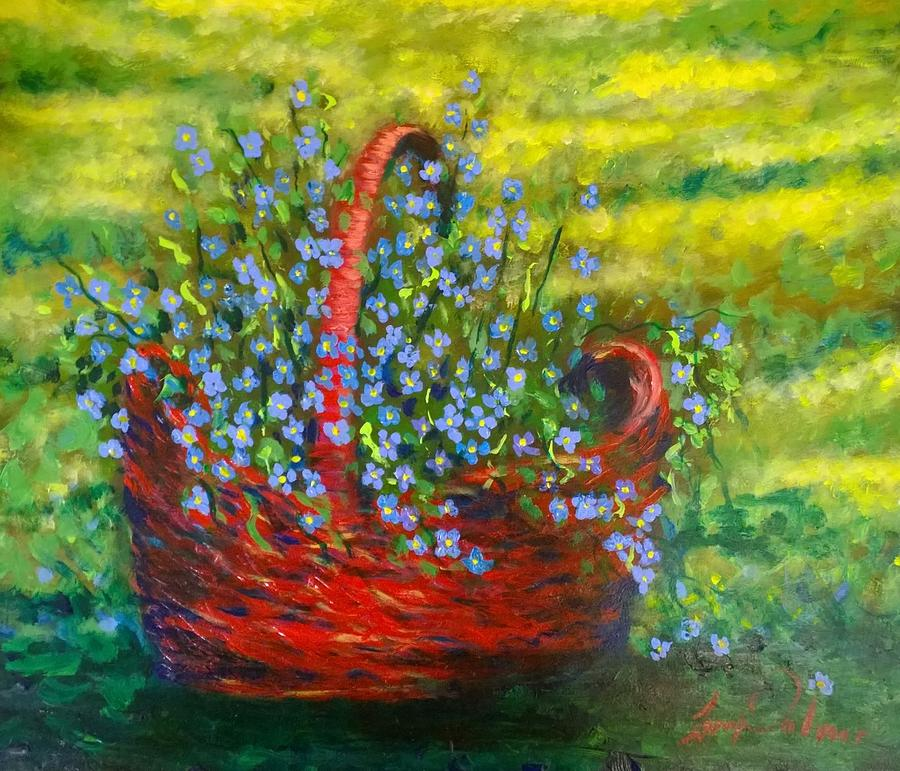 Flowers  Painting by Larry Palmer