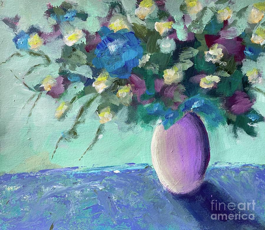 Flowers Painting - Flowers by Mark Macko