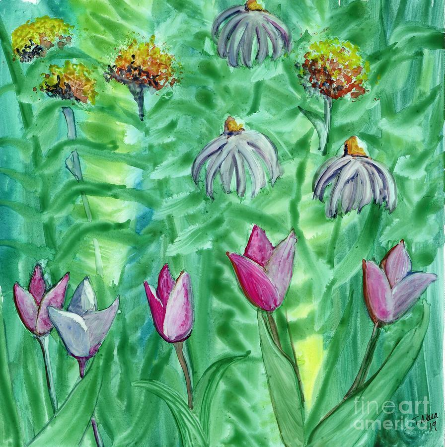 FlowerView 5 Tulips by Tammy Nara