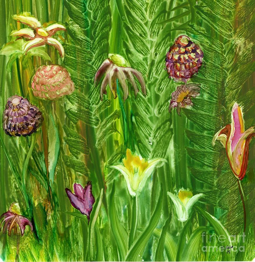 FlowerView Purple Zinnias by Tammy Nara