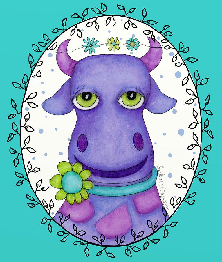 Flowery Cow by Barbara Orenya