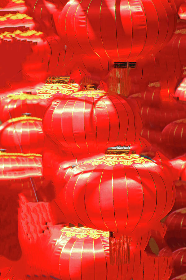 Flowing Chinese Lanterns Red Gold Flowing 2 2242020 1a 1106 Photograph by David Frederick