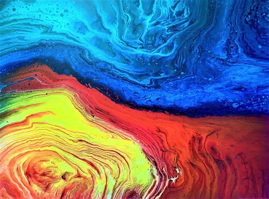 Fluid Sunset Painting