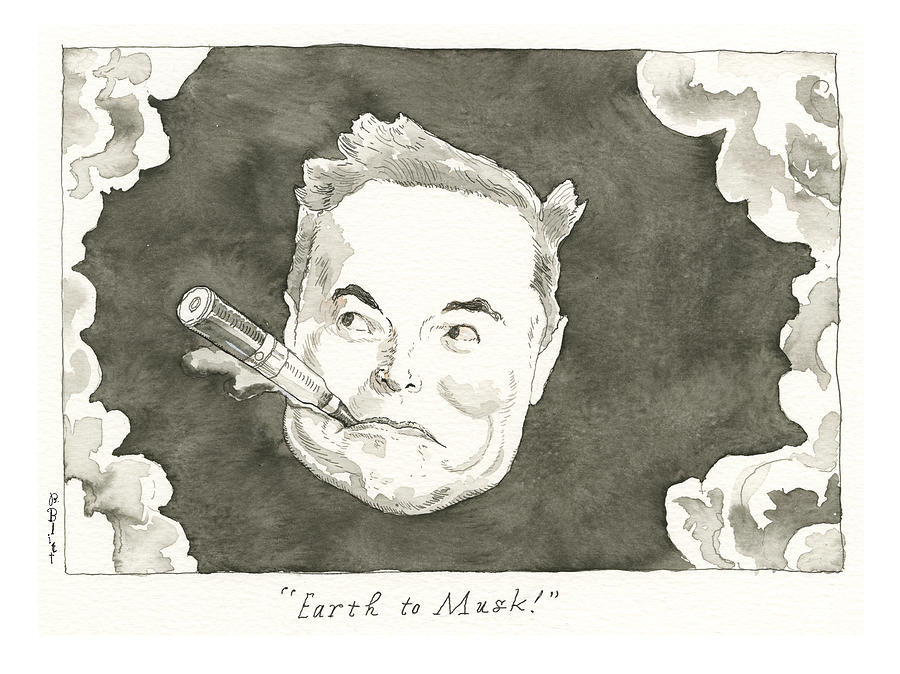 Fly Musk To The Moon Painting by Conde Nast