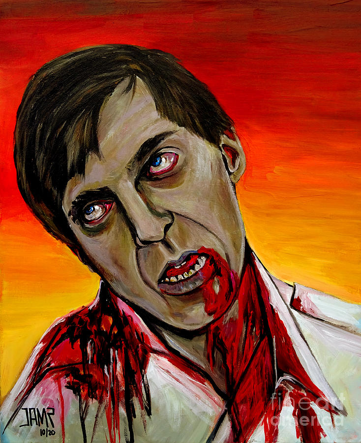 Flyboy Painting - Flyboy Dawn of the Dead by Jose Mendez