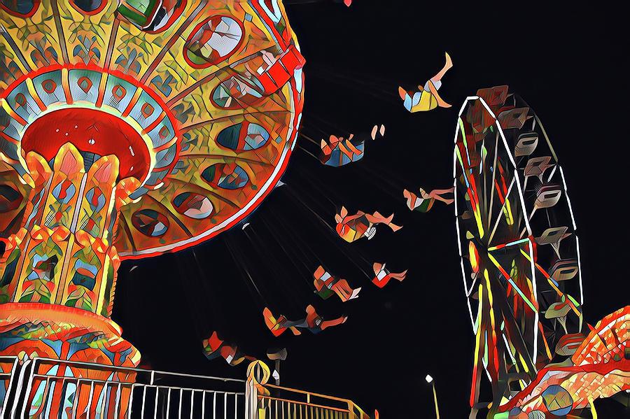 Flying Chairs Digital Art