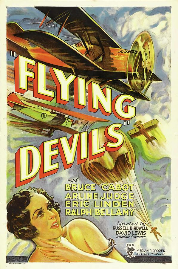 flying Devils, With Bruce Cabot, 1933 Mixed Media