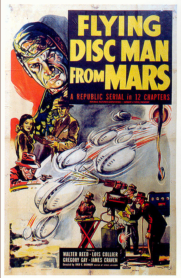 flying Disc Man From Mars Poster 1950 Mixed Media