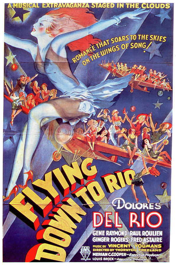 flying Down To Rio Movie Poster 1933 Mixed Media