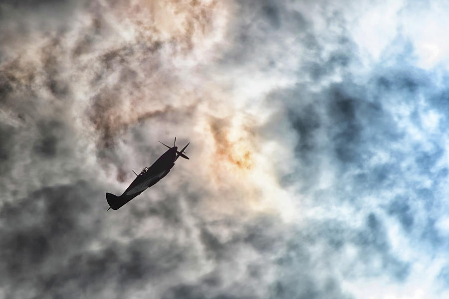 Flying Into The Storm Photograph