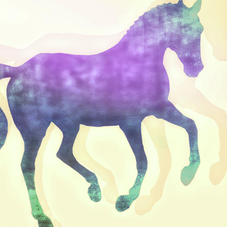 FLYING PURPLE HUES SQUARED by Dressage Design