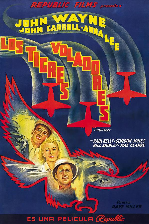 flying Tigers, With John Wayne, 1942 - 2 Mixed Media