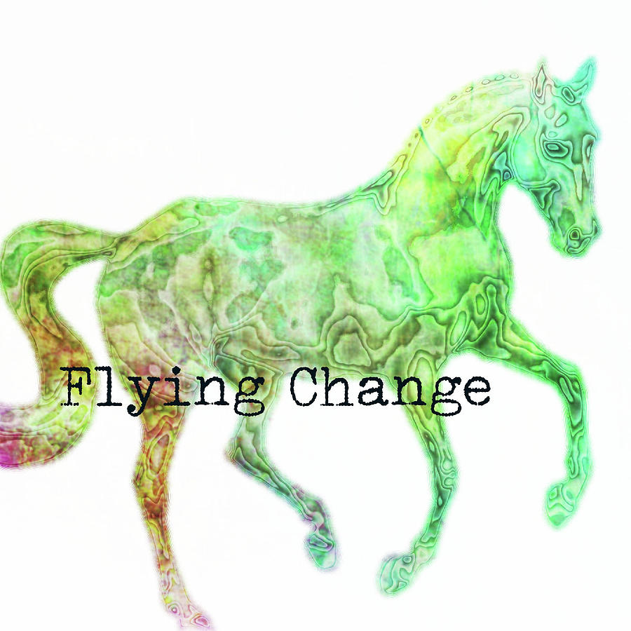 FLYING WATERCOLOR SQUARED by Dressage Design