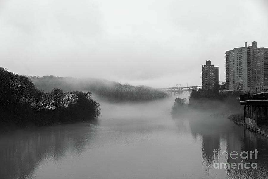 Fog on the Spuyten Duyvil  by Cole Thompson