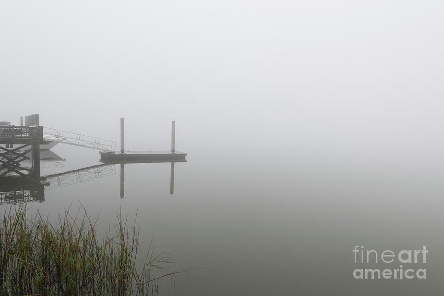Sea Fog - Wando River Community Dock - Lowcountry Photograph