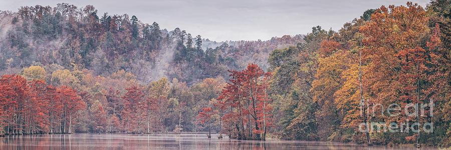 Foggy Autumn Morning at Beaver's Bend State Park - Broken Bow Oklahoma by Silvio Ligutti