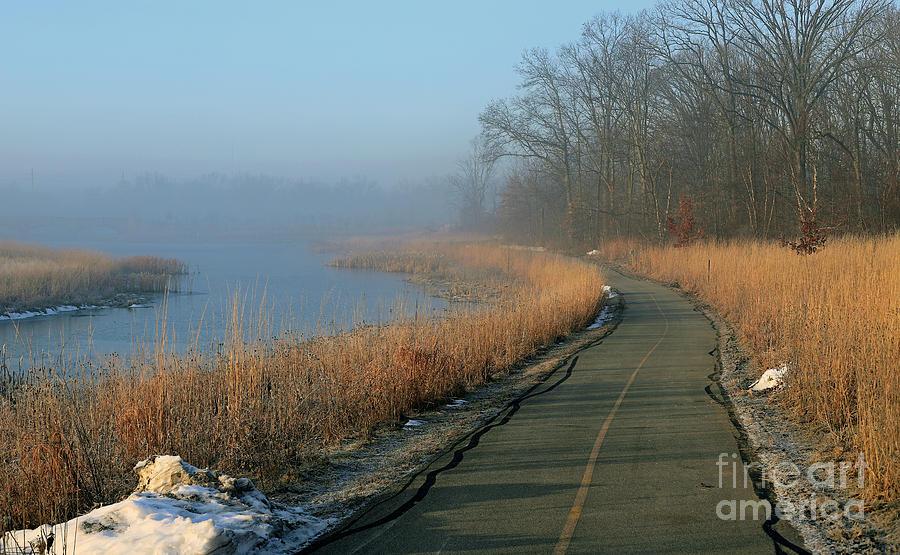 Park Photograph - Foggy Central Park, Carmel, Indiana by Steve Gass