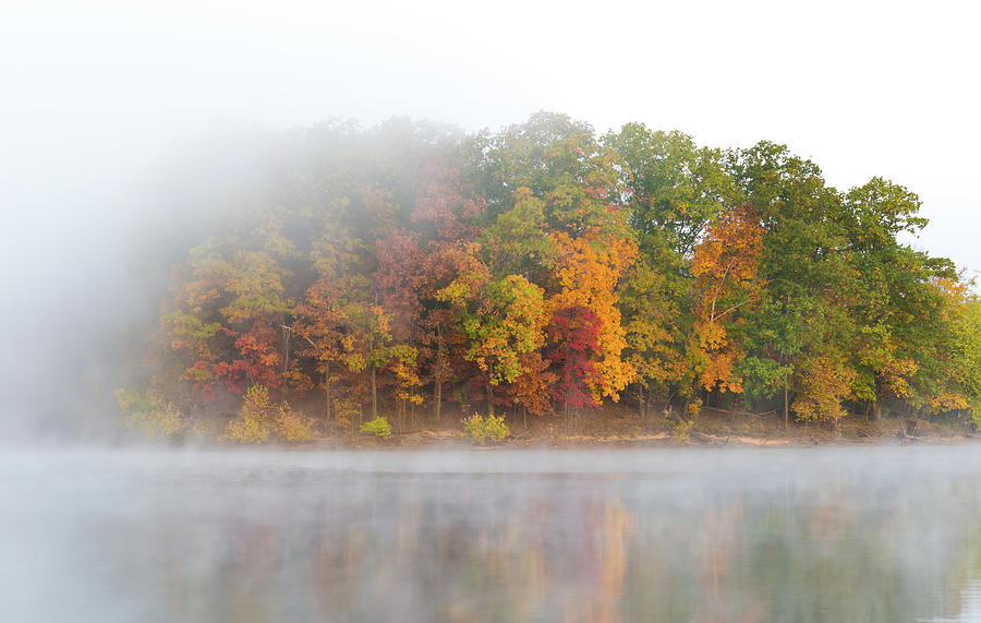 Foggy Lake In Fall 1 Photograph