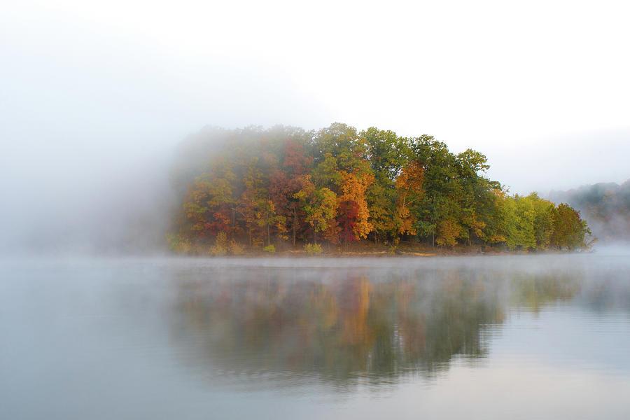 Foggy Lake In Fall 2 Photograph