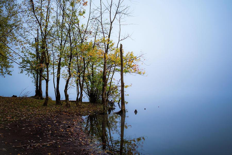 Foggy Lefthand Shore 2 Photograph