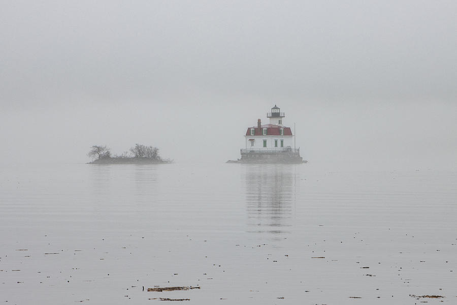 Esopus Lighthouse Photograph - Foggy March Evening on the Hudson by Jeff Severson