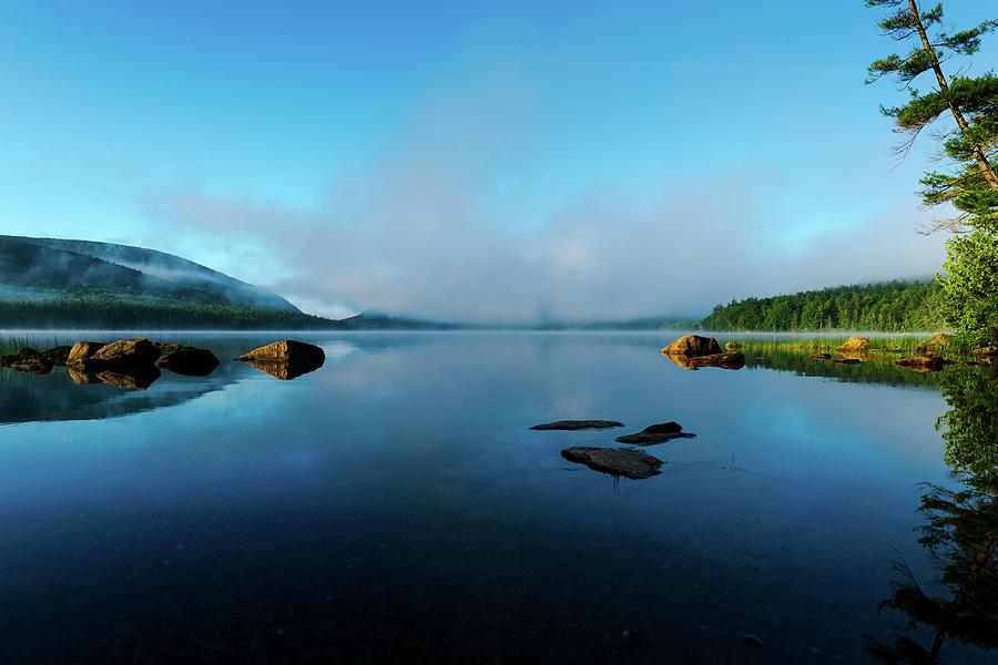 Foggy Morning At Eagle Lake Photograph