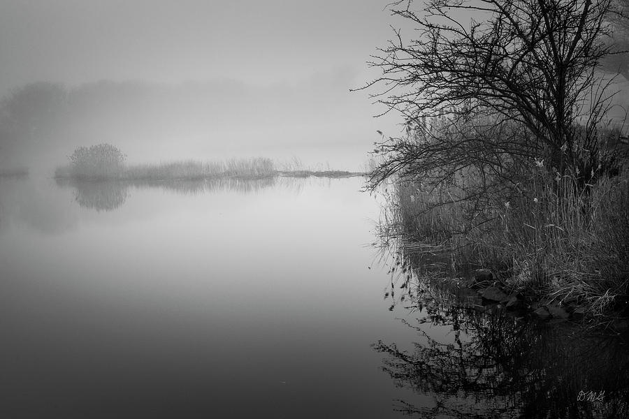 Foggy Morning Taunton River BW II by David Gordon
