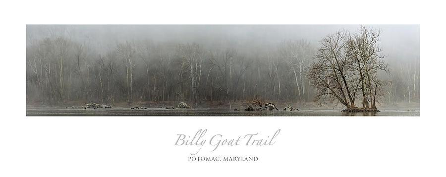 Foggy Potomac Panorama Poster Photograph